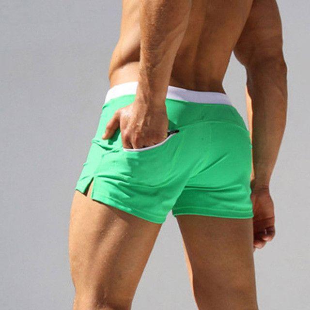 Man Men's Swimwear Swim Beach Board shorts swim trunks Swimsuits Bathing Suits Men Swimming Boxer Surf Wear Gay