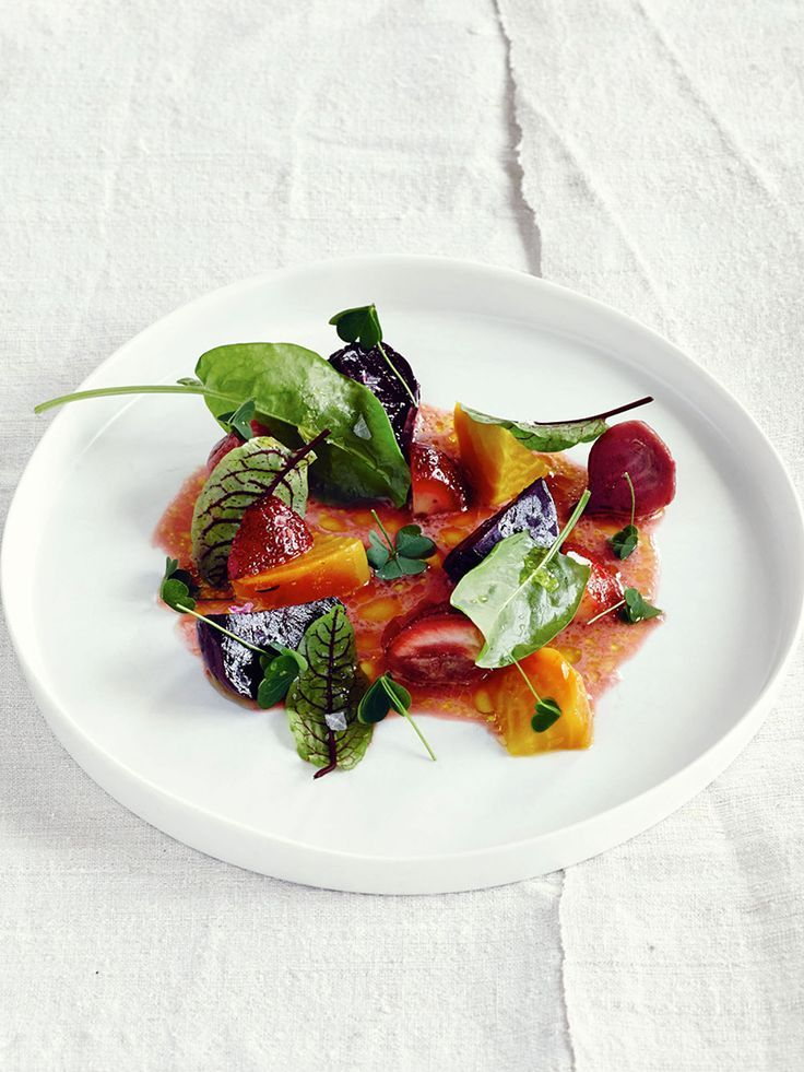 Strawberry and beet salad from Heritage cookbook by Sean Brock. ©️️ Peter Frank Edwards - See more at: http://theartofplating.com/editorial/finding-the-image-peter-frank-edwards-by-stephen-torres/#sthash.eMBHKArX.dpuf