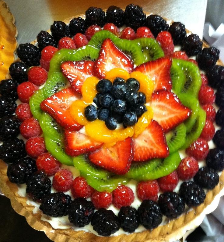 Strawberries Cream Torte Recipe: A Fresh Fruit Torte...perfect In The Summer!