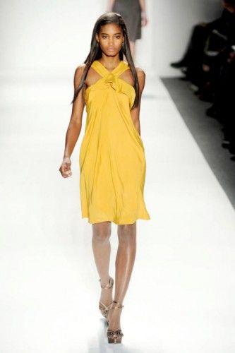 #yellow #flower #summer #cocktail #dress #tadashishoji
