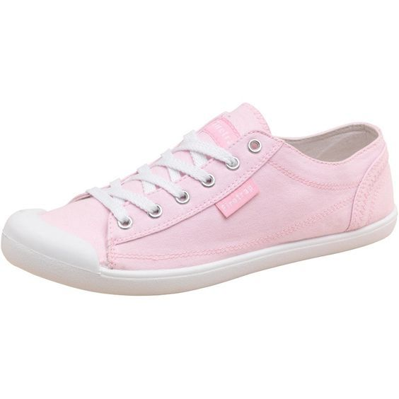 Firetrap Womens Cutie Canvas Trainers Pink Chambray
