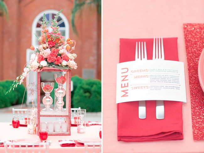 A Coral + Poppy Red Palette Styled Two Ways | Green Wedding Shoes Wedding Blog | Wedding Trends for Stylish + Creative Brides
