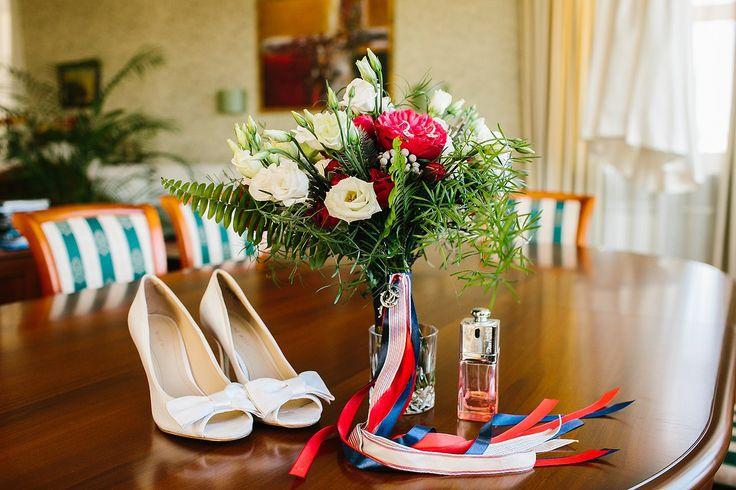 Морская свадьба sea wedding bouquet