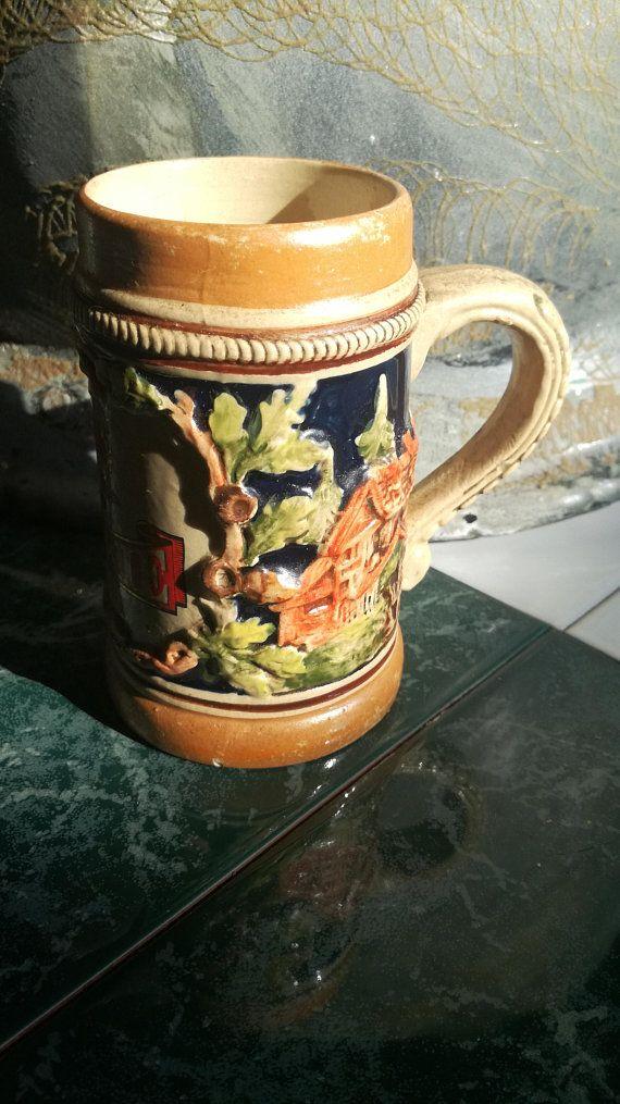 Vintage, Miniatur, Miniature, Bierkrug, Beer Mug, Steinkrug, Stone Pitcher, Bierseidel, Tyskie, 10,5 cm, Collector, Sammler Miniatur 10,5 cm 8,00€ Janetsvintagecorner