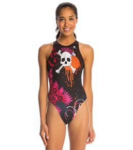 Turbo Women's Skull Crown Water Polo Suit