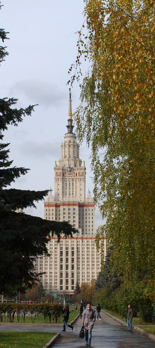 Moscow State University, 240m, 1953, Moscow, Russia
