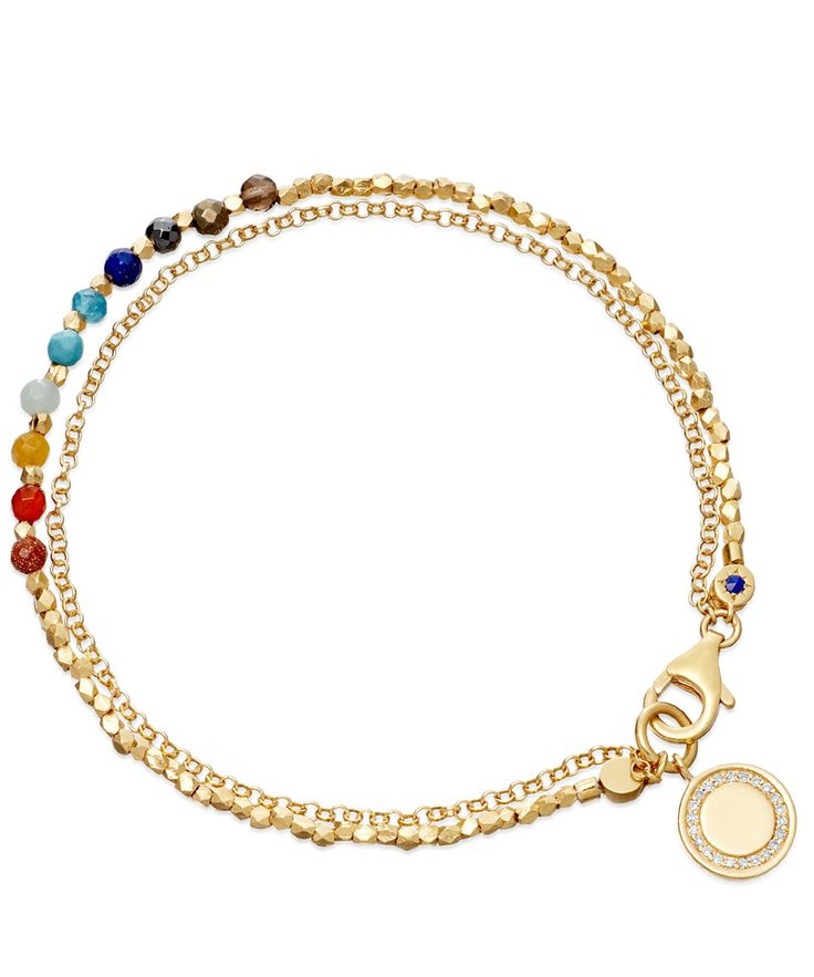 Astley Clarke Rainbow Cosmos Friendship Bracelet | Jewellery by Astley Clarke | Liberty.co.uk - I have all the ingredients & will try to recreate this...
