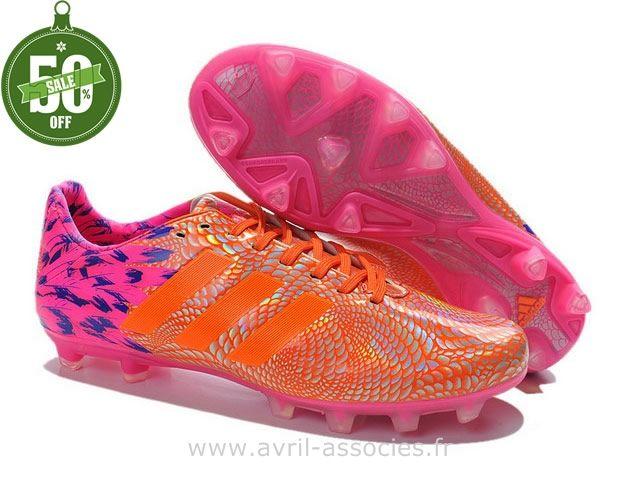 Boutique adidas 11Pro Carnaval TRX FG Orange Rose (Chaussures Adidas Pas Cher)