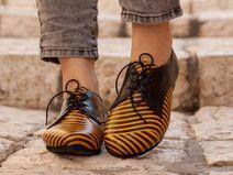 Scarpe basse, Pelle Oxford