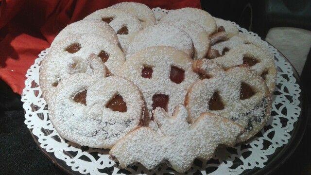 biscotti di halloween alla marmellata