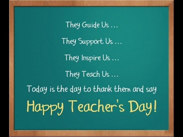 To someone who is a sincere and wonderful person as well as an amazing educator. All of your hard work and efforts are greatly appreciated.  Happy Teachers Day!
