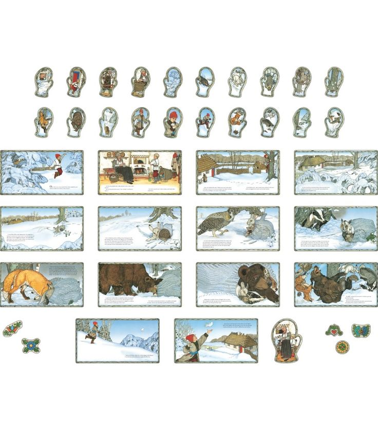 #cdwish13 13.99 This bulletin board set features the artwork and story of The Mitten by Jan Brett.  Includes 14 scenes, 1 large mitten scene, 20 small mitten scenes and 5 decorative accents.&copy