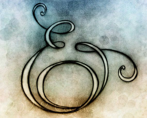 Ampersand, Print from Hand lettered original illustration by Robin Collins