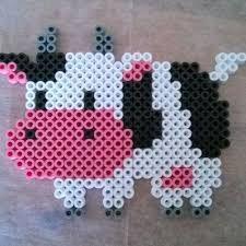 Bildergebnis für Cow box perler beads
