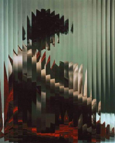 Erwin Blumenfeld - Lisette behind Fluted glass, 1954