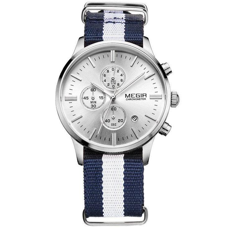 Megir Men Chronograph Watch - Death Or Designer