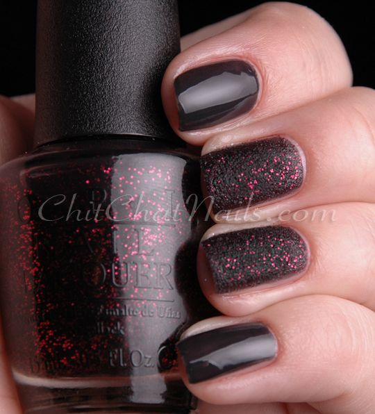 'Stay the Night' OPI Liquid Sand, not avail. until Jan. 2013. It's from the Mariah Carey collection. I can't wait, gotta have it! =D