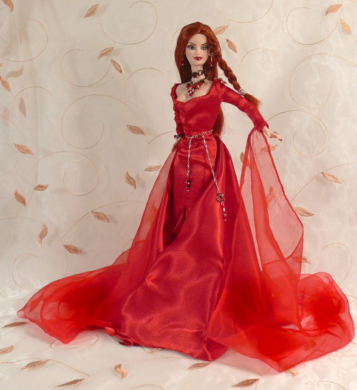 """Melisandre, the """"Red Woman"""" Game of Thrones Custom Doll by me"""