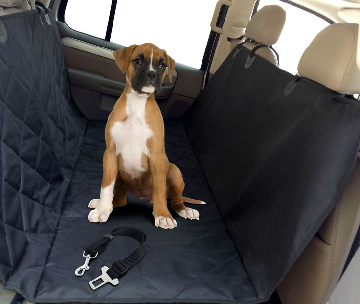 Pet Seat Cover-with Bonus Dog Seat Belt-quilted Hammock to Protect Cars-durable Waterproof Heavy Duty Material, Back Seat Cover with Adjustable Rubber Straps, Guaranteeing Firm Grip During Travel. It Includes a Safety Seat Belt.