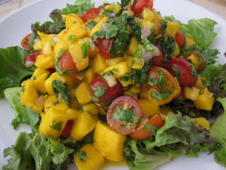 Light and Fresh Thai Mango Salad  ( raw vegan recipe ) next time I make this I will add a little seasoned rice wine vinegar.