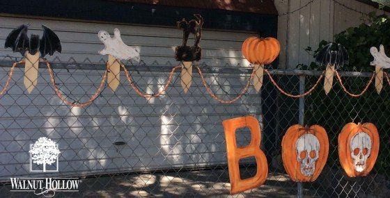Boo! Halloween Fence decorations