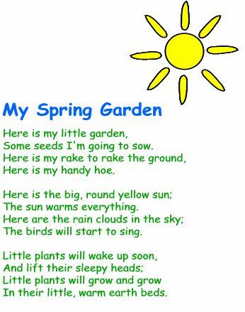 стихи на английском 4 класс про весну двух