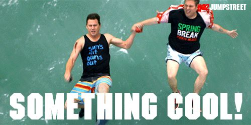 "22 Jump Street ""say something cool when you throw it!"""