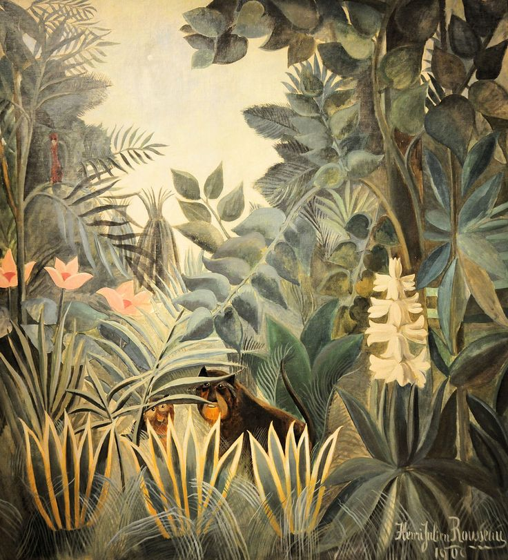 Henri Rousseau - The Equatorial Jungle at National Art Gallery ...