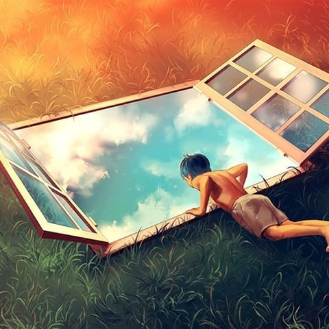 """""""There is no such thing as #magic,#supernatural, #miracle; only something that's still #beyond logic of the observer.""""― Toba Beta ❇  Cyril Rolando  #art #artwork #digitalart #surrealism #surrealismo #surrealisme #surreal #digital #gobeyond #logic #fantasy #magic #observer #window #view #freedom #mind"""