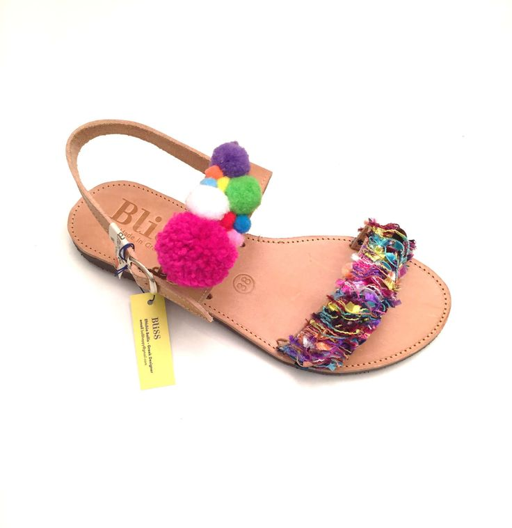 """Leather Sandals """"Emmanouela"""" (Handmade to order) Boho / Bohemian / indian style / unique / colorful / hippie  / summer sandal / gift sandals by BlissDesigners on Etsy"""
