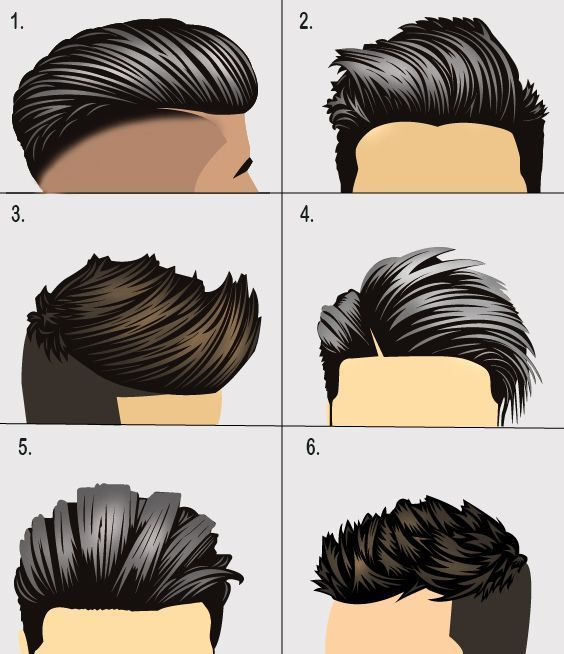 6 Popular hairstyles and haircuts for men and related products