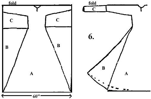 "This is really quite cool, how the entire dress is cut out of that one rectangle, with no wasted pieces. ARTICLE: ""Later Anglo-Saxon Dress"", including construction instructions."