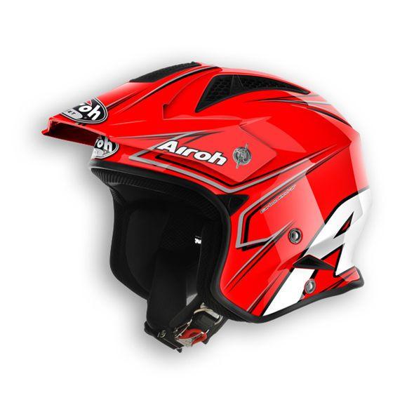 Casco Airoh modello TRR grafica smart base rosso