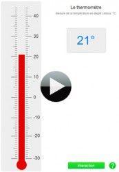 Apprendre à mesurer la température avec un thermomètre interactif