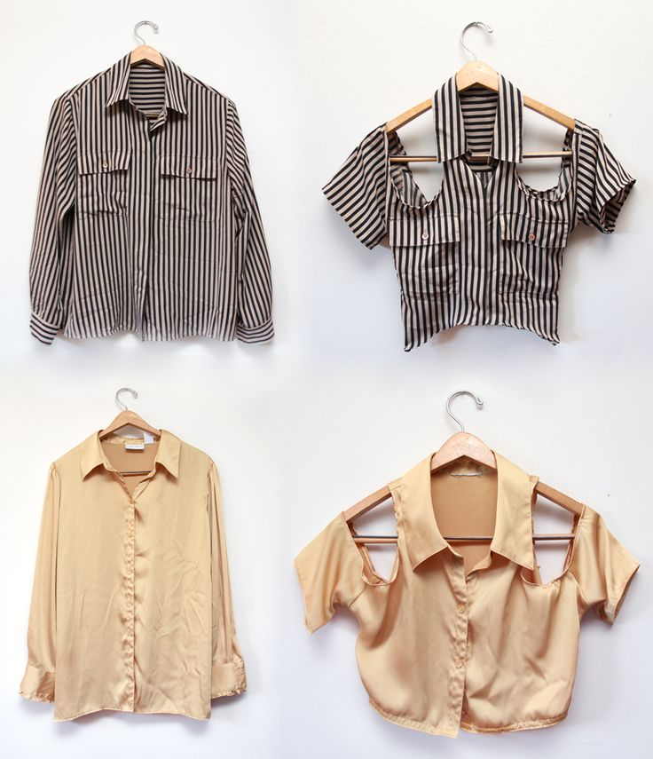 turn an oversized shirt into a shoulder-less blouse. genius DIY http://www.minipennyblog.com/2011/07/shoulderless-blouse-diy.html