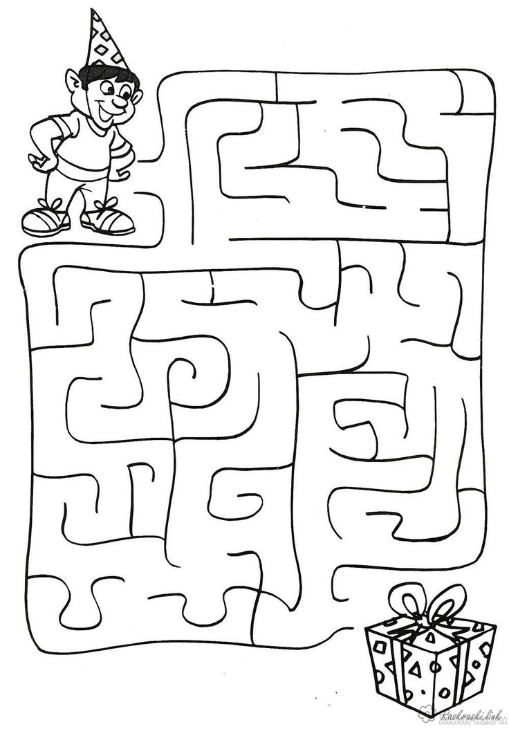 Раскраски Раскраска лабиринт Детская раскраска-лабиринт