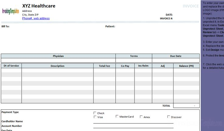 Medical Invoice Template (2) - freeware edition