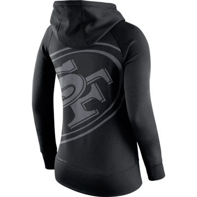 San Francisco 49ers Nike Womens Warpspeed All Time Full-Zip Hoodie – Black