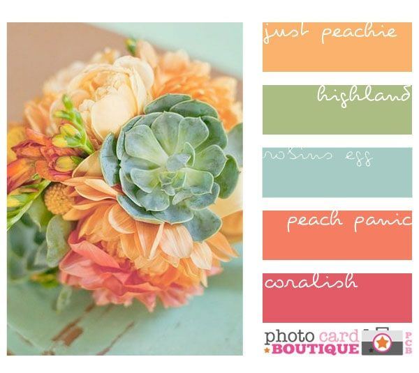 Modified from PCB to include more bluish robin's egg blue. Great inspiration bouquet.