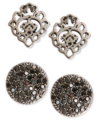 Lucky brand earrings set silver tone pave and openwork for Macy s lucky brand jewelry