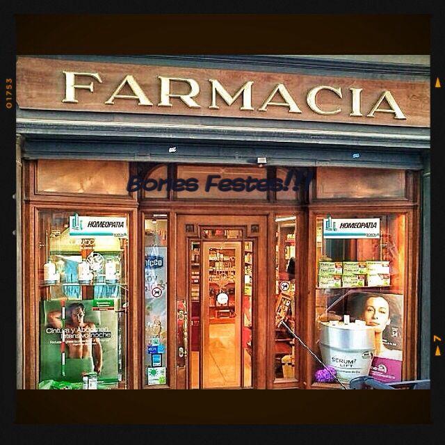 One hundred years pharmacy. Farmacia Alier . Manresa