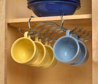 Coffee Mug Holder Tea Cup Storage Hanging Organizer Under the Shelf Kitchen Rack