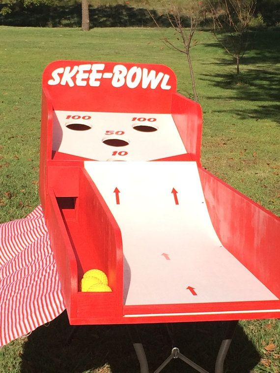 Cusom Skee Ball style game Kids Outdoor Games * animation extérieure pour fête , mariage