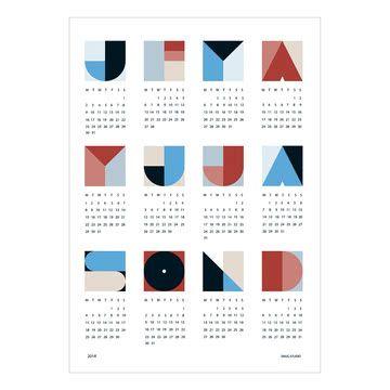snug.geo Wandkalender von Snug.studio | Connox