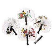 papier hand ventilator vouwen kleur bloem schilderij vouwen van papier ventilator retro waaiers klassieke geschenk decoratie kleurrijke(China (Mainland))