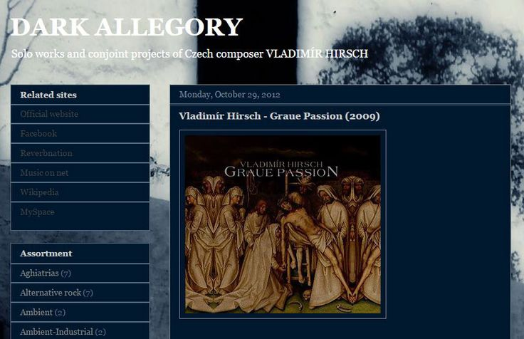 DARK ALLEGORY music blog - Solo works and conjoint projects of Vladimír Hirsch