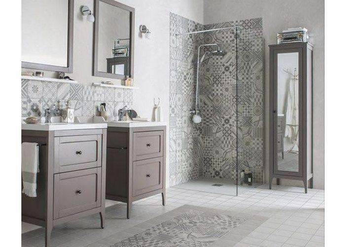 Les 25 meilleures id es de la cat gorie salles de bains for Salle bain carreau ciment