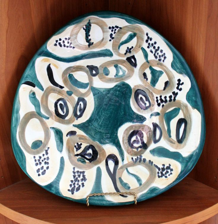 Mid Century Modernist Wloclawek Poland Abstract 'Picasso' Design Charger Plate 1