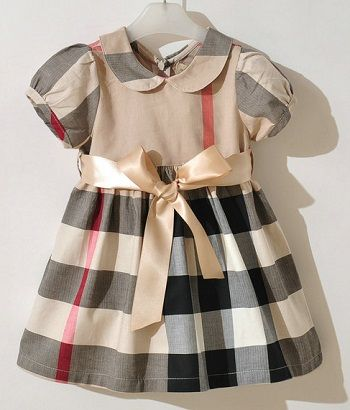 FREE SHIPPING Burberry style ribbon belted dress for girls (1-6 years) | EmeseBoutique - Children's on ArtFire