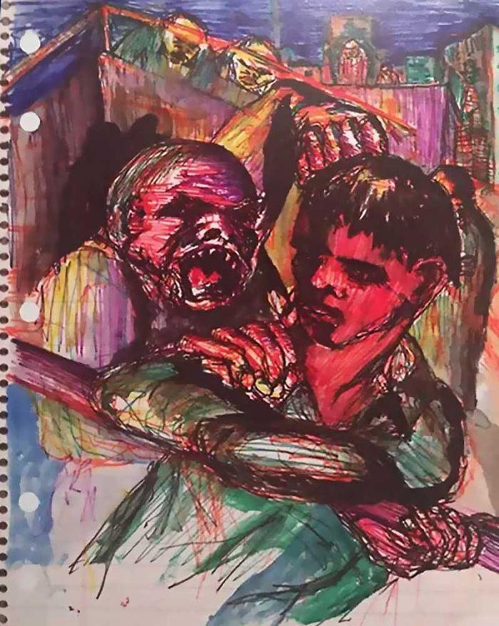 Des peintures de David Bowie  Dessein de dessin